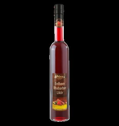 Erdbeer-Rhabarber Likör 17 % vol. –  0,5l Flasche (Kopie)